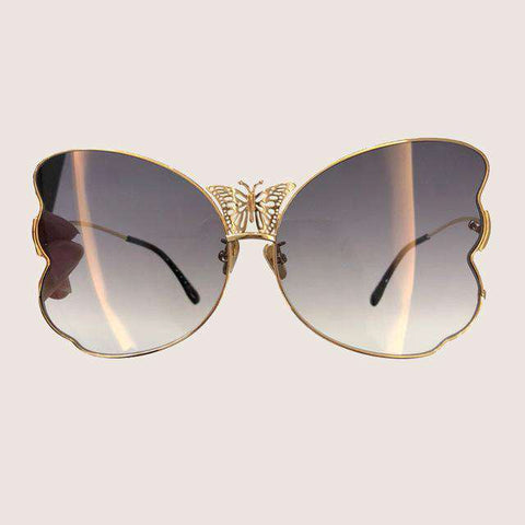 Butterfly Alloy Frame UV400 Mirror Coating Lens Sunglasses