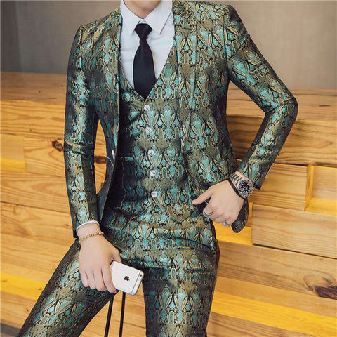 Single Breasted England Style Skinny Suit