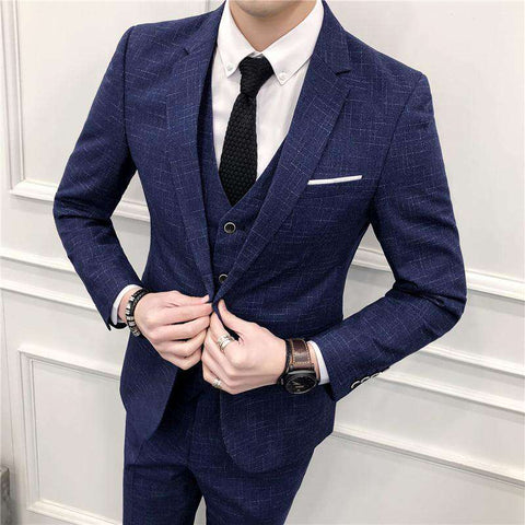 Dot Stripe Slim Fit Suit