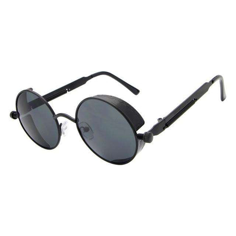 Gothic Steampunk Coating Mirrored Round Circle Retro Vintage Unisex Sunglasses
