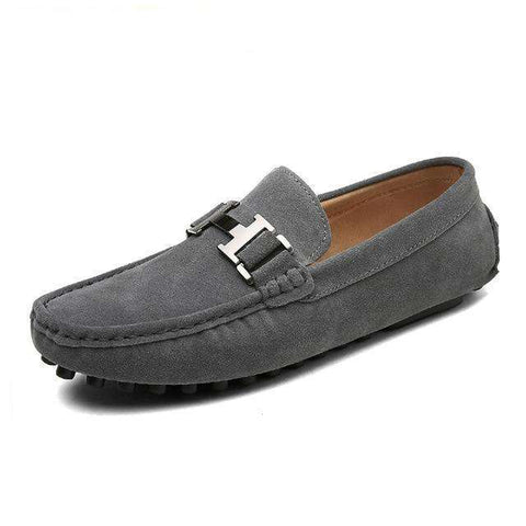 Genuine Leather Slip-On Shoes Loafers