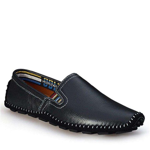 Breathable Genuine Leather Loafers Flats Shoes