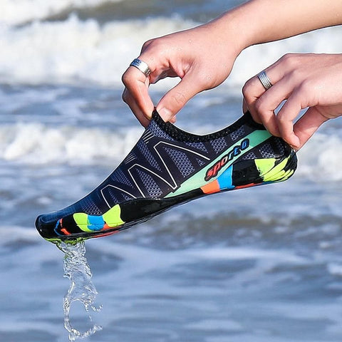 Beach Summer Wading Swimming On Surf Quick-Drying Sneakers Skin Sock Striped Unisex Water Shoes