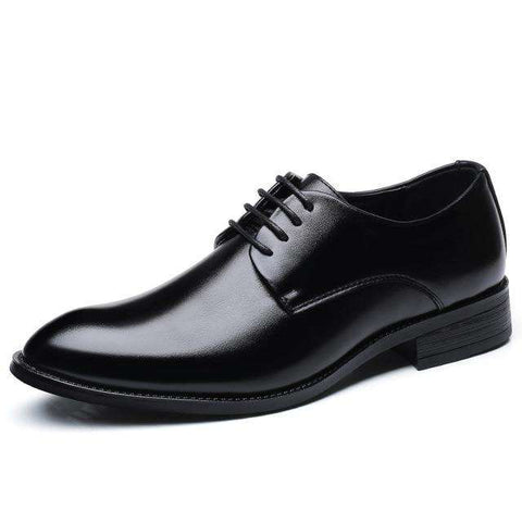 Micro Fiber Leather Pointed Toe Oxford Business Shoes