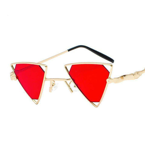 Punk Wind Triangle Cutout High Quality Alloy Frame Sunglasses