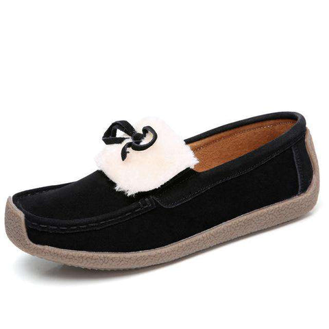 Butterfly-knot Comfortable Round Toe Flats Casual Shoes Loafers
