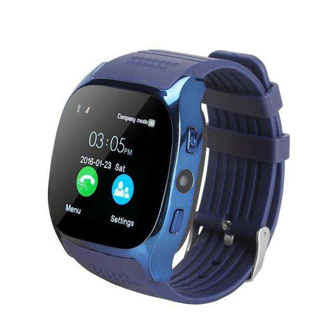 T8 Bluetooth Smart Watch Support SIM TF Card With Camera Sports Wristwatch Music Player for Apple Android