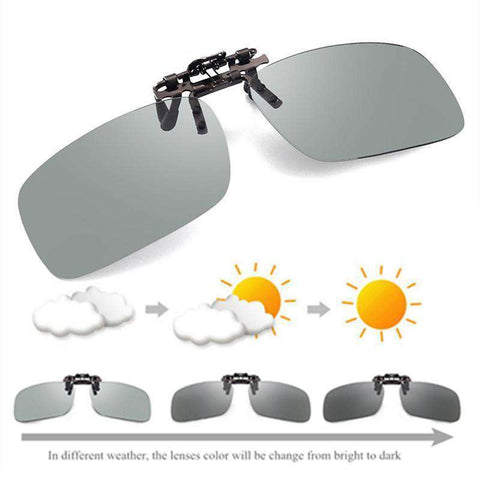 Driving Photochromic Clip Polarised Chameleon Discolouration Driver Sunglasses