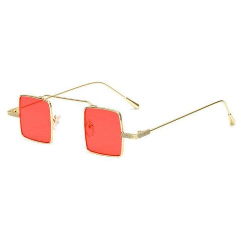 Fashion Steampunk Retro Square Designer Vintage UV400 Shades Oculos Sunglasses