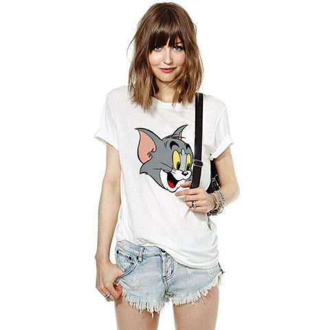 Jerry mouse Tom cat Printed top tee