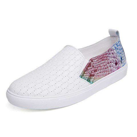 Patchwork Fashion Slip On Casual Shoes
