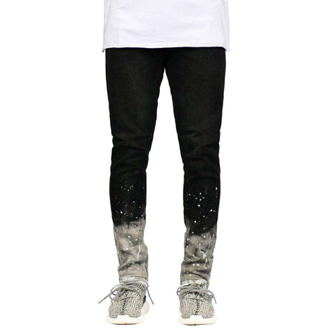 Skinny Stretch Paint Leg Side Ankle Zipper Pencil Jeans