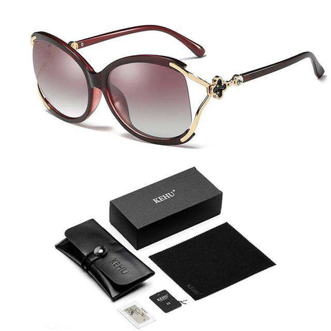 Square Polarized Black Cool Sun Glasses High Quality