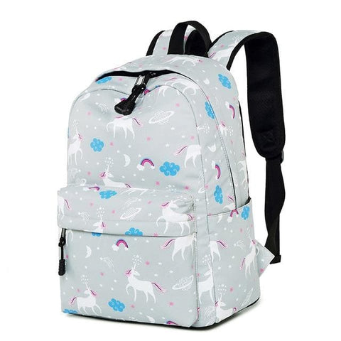 Cute Waterproof Nylon Unicorn Animal Printing Backpack