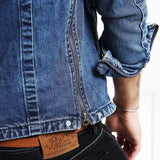 Single Breasted Long Sleeve Slim Fit Denim Jacket