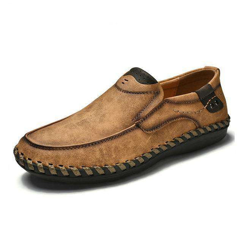 Breathable Leather Slip On Shoes