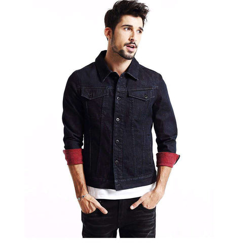 Turn-down Collar Single Breasted Denim Jacket
