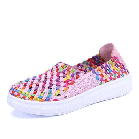Breathable Hollow Comfortable Colourful Flat Shoes