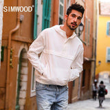 Thin Pull-over Slim Fit Hooded Windbreaker White Jacket