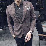 Slim Fit Stripe Stylish Blazer