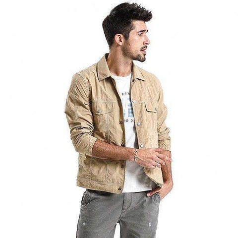 Single Breasted Turn-down Collar Casual Thin High Quality Jacket