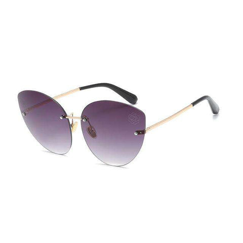 Cat Eye Flower Fashion Trend Alloy Frame SunGlasses UV400