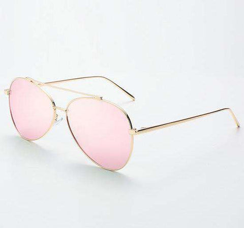 Polarized Designer Pilot Driving Rose Gold Steampunk Sunglasses