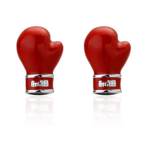 Red boxing gloves High Quality Shirt Cuff Links