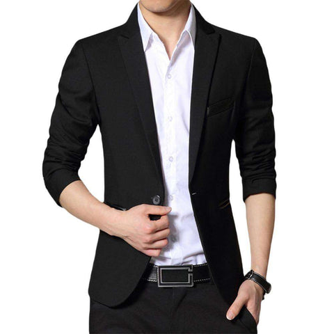 Single Breasted One Button Slim Fit Blazer