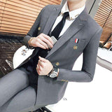 Double Breasted Slim Fit  Tuxedo Suit