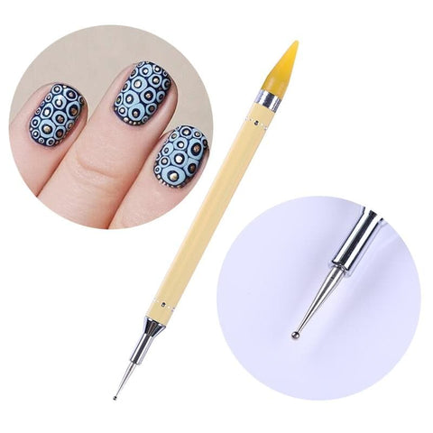 Dual-ended Dotting Pen Nail Rhinestone Flat Bottom Stud Picker Remover