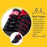Unique Tongue Design Breathable Sport Shoes Sneakers