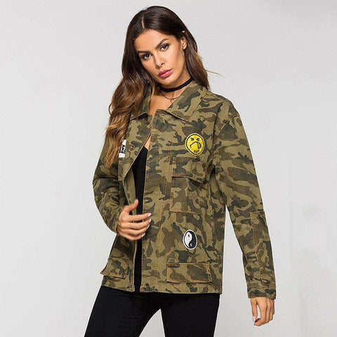 Army Green Camouflage Military Embroidered Jackets