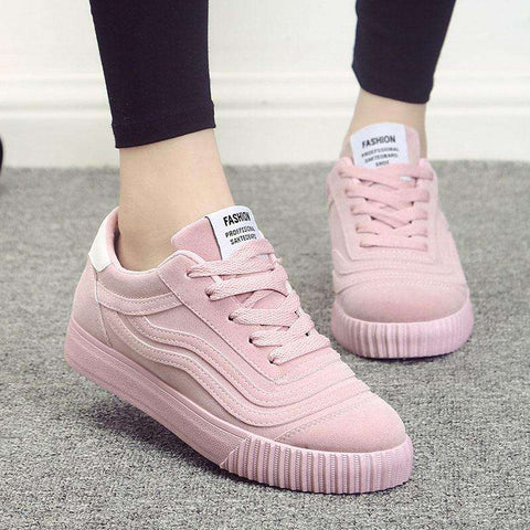 Canvas Pink Shoes Sneakers