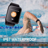 Colour Screen Fitness Blood Pressure Waterproof Activity Tracker Smartwatch Multi Sport Mode Watch