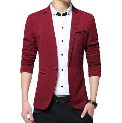 One Button Slim Fit High Quality Blazer
