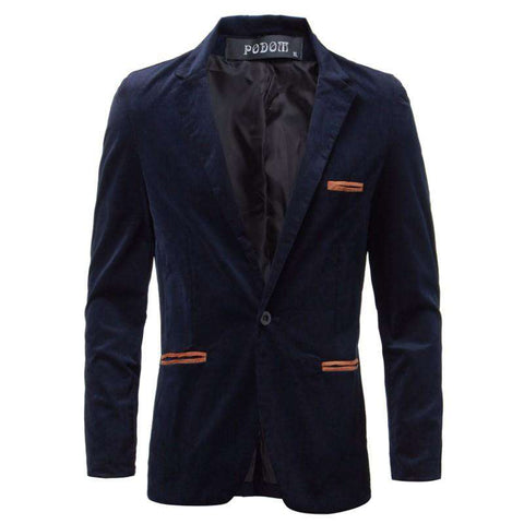 Single Button Slim Fit Blazer