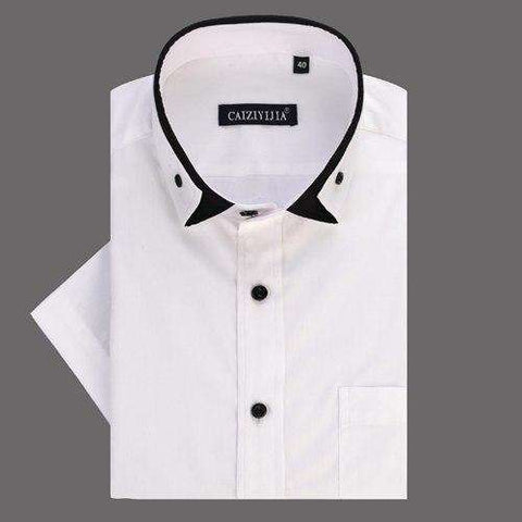 Turn-down Collar Closure Type: Single Breasted Short Sleeve 100% Cotton Shirt