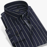 Striped 100% Cotton Long Sleeve High Quality Button Down Business Shirt