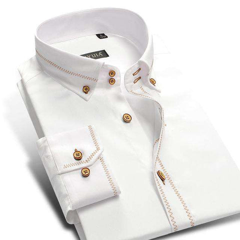 Long Sleeve 100% Cotton White Shirt
