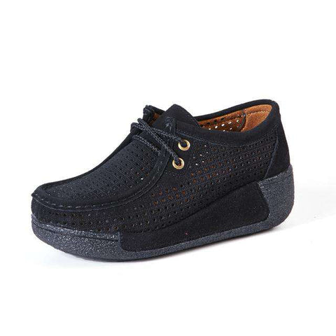 Suede leather Shoes Breathable Thick Shoes