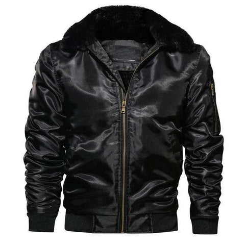 Winter Thick Motorcycle Pilot Fleece Warm Bomber Jacket
