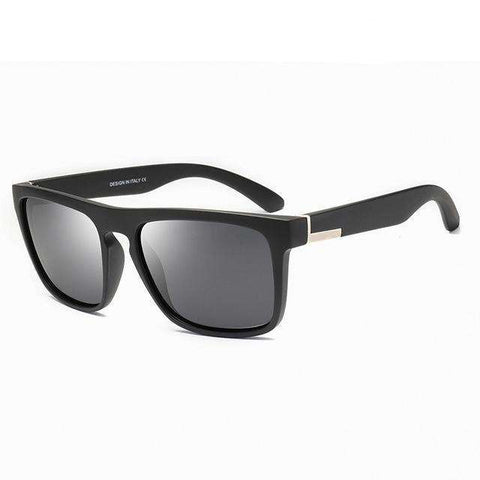 Polarized Designer Classic Mirror Square Sunglasses