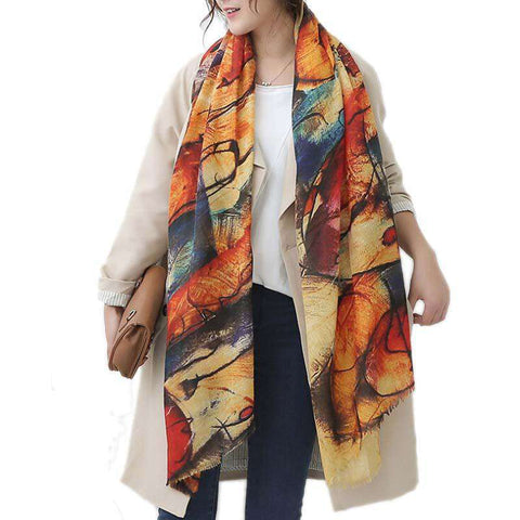 Long Graffiti Warm Scarf - Wear.Style
