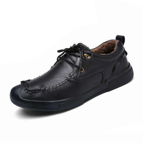 Genuine Leather Short Plush Warm Comfortable sole Shoes