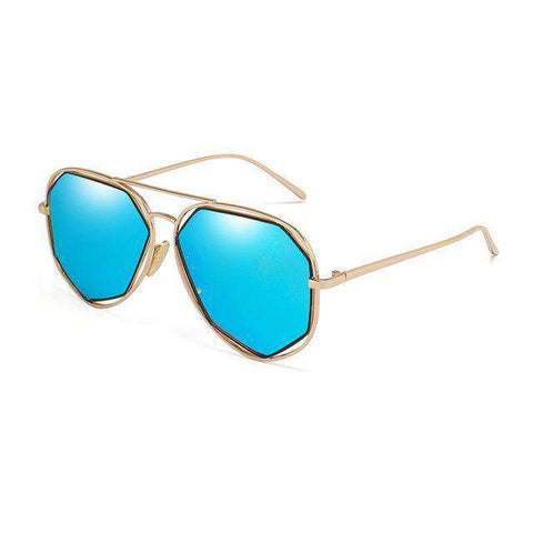 Metal Twin-Beams Designer Fashion Sunglasses