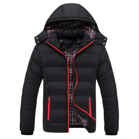 Turn-down Collar Warm Parkas Thick Hooded Jacket
