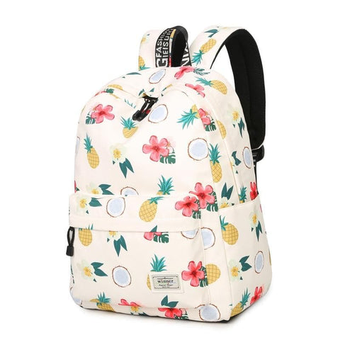 Comfortable Waterproof Polyester Cute Pineapple Printing Backpack