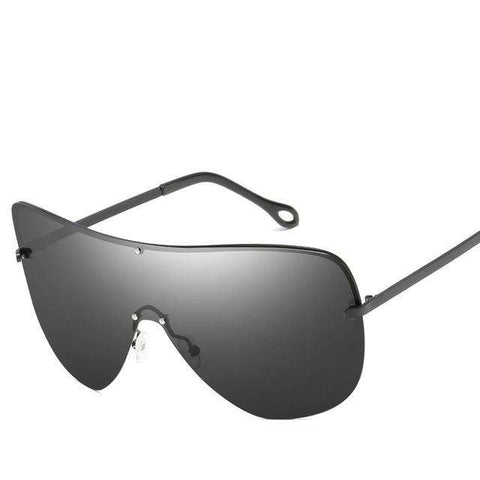Polarized UV400 Driving Designer Classic Rimless Sunglasses
