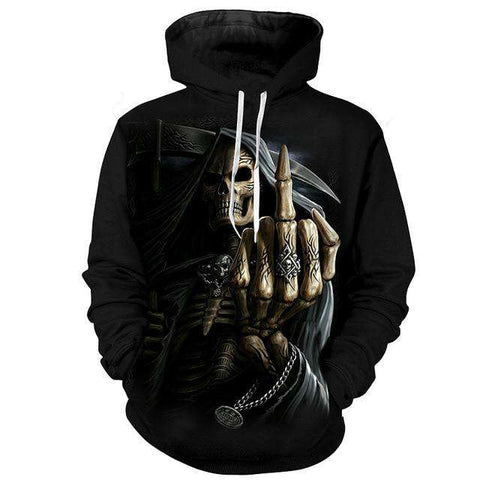 Cool Hip Hop Hooded Skull Hand 3d Print Sweatshirts Pullover